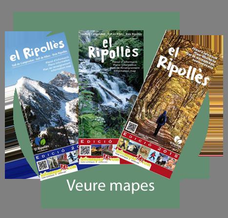 Mapa turístico del Ripolles