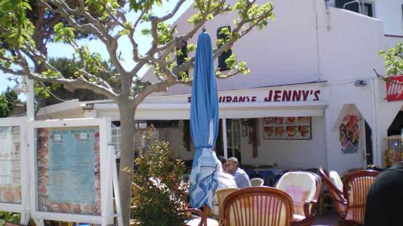 Rstaurant Jenny's Menorca. Cala Blanca